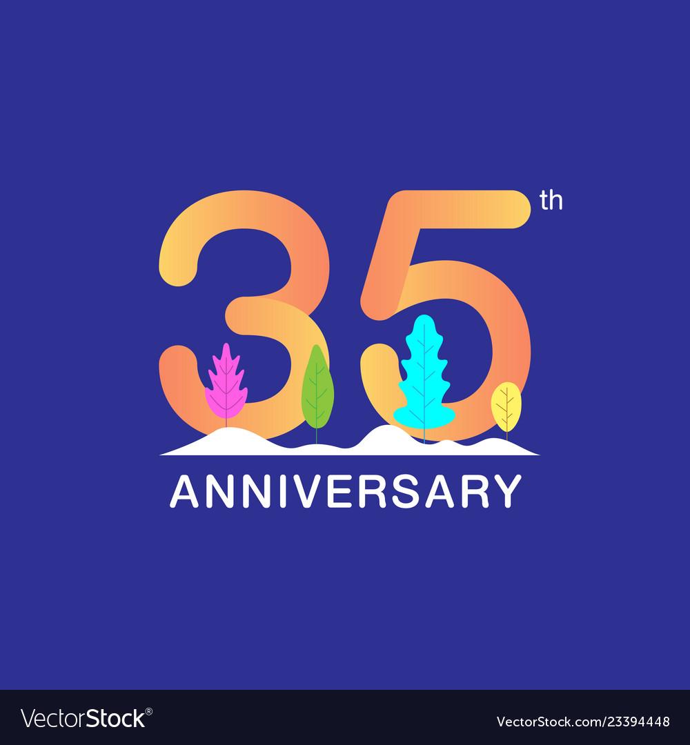 35 years anniversary celebration logotype