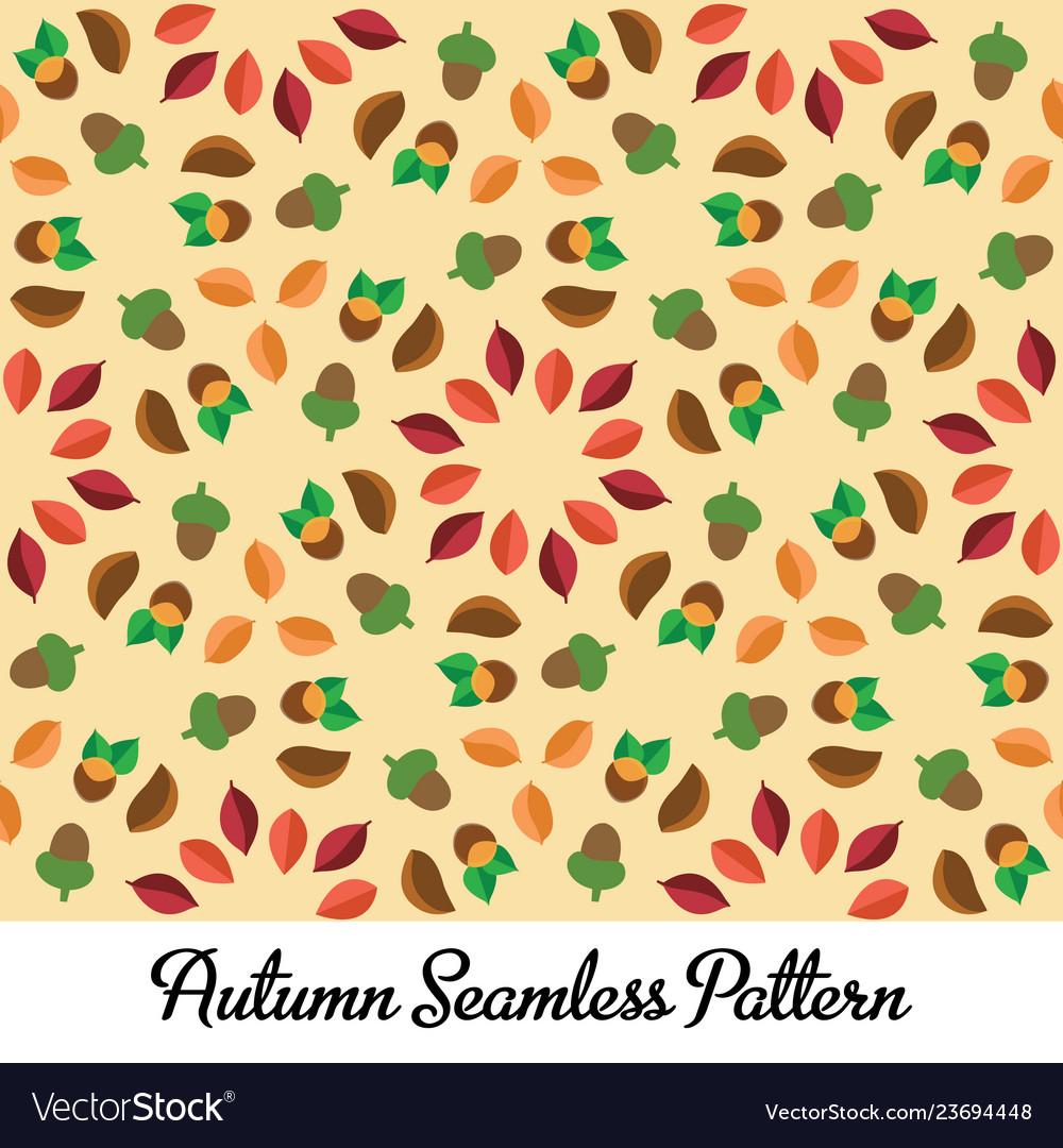 Autumn seamless design pattern