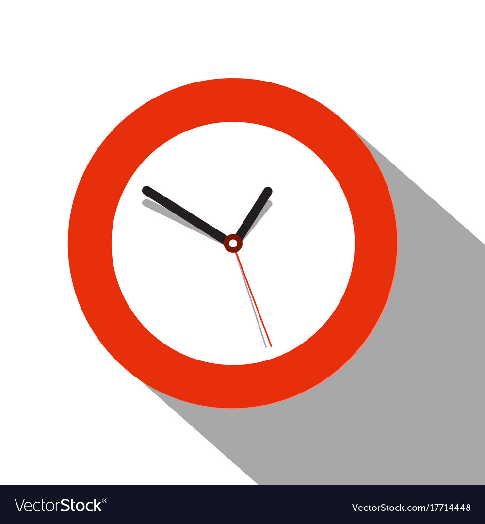 Clock flat icon on white background