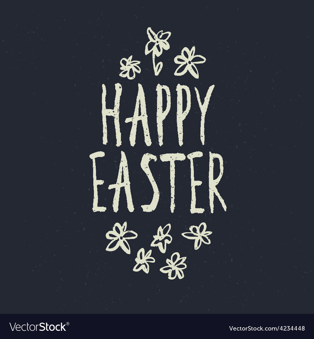 Easter grunge calligraphic design
