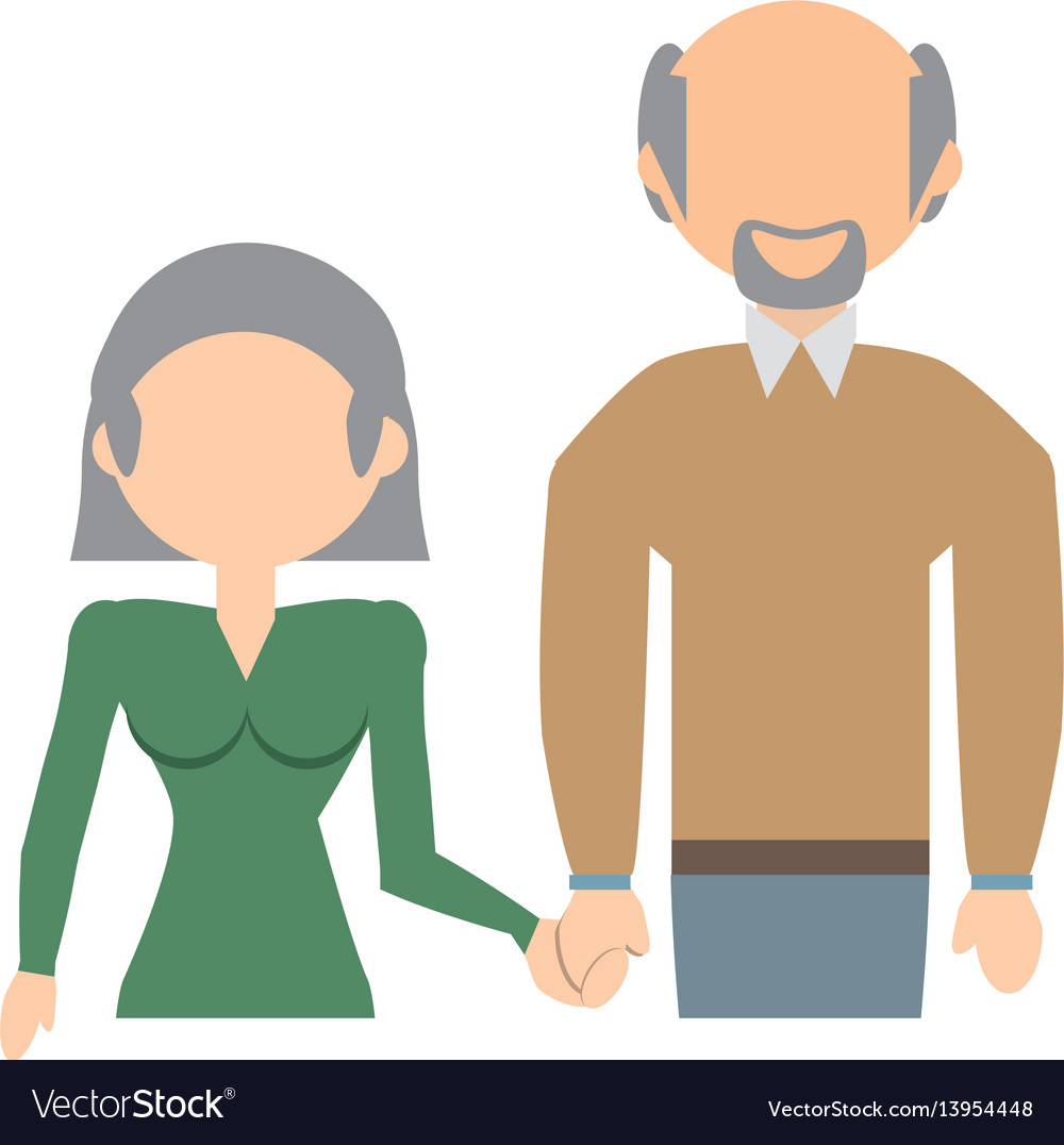 Elderly couple family image vector image
