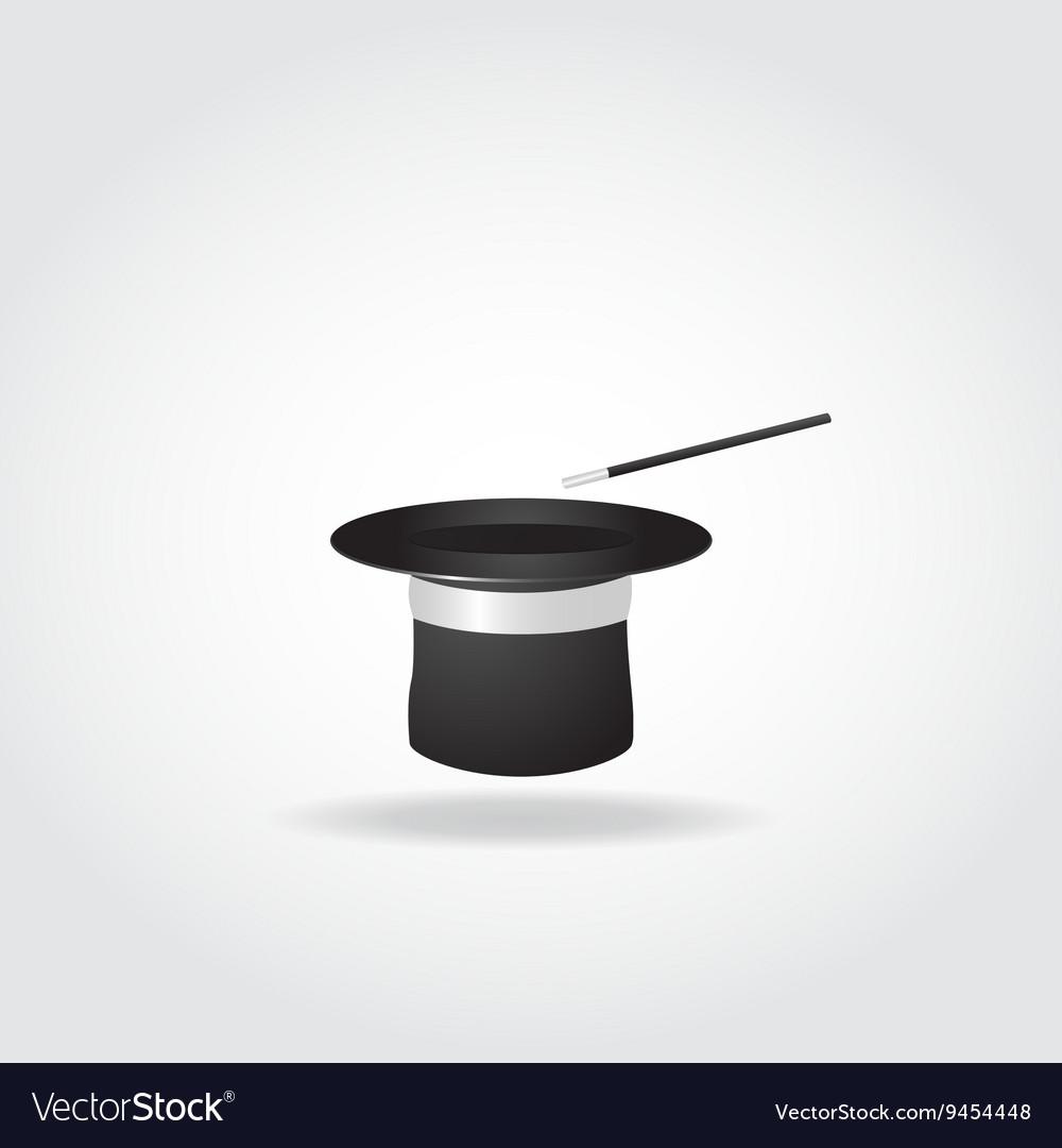 Magic hat on white background