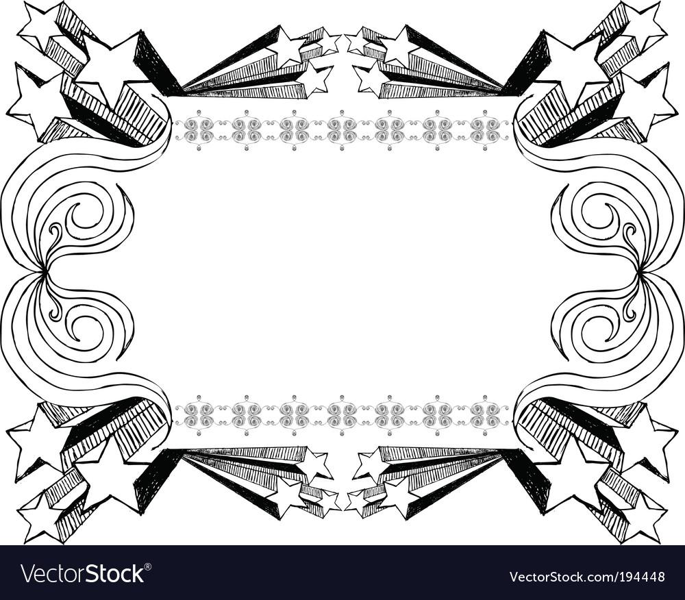 Sketchy frame vector image