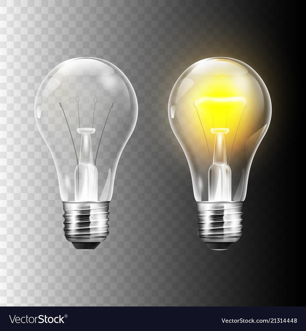 Stock realistic lightbulb