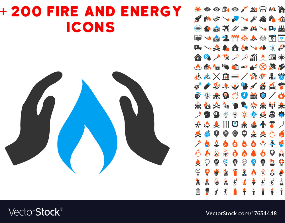 warm up hands icon with bonus energy clipart vector image vectorstock