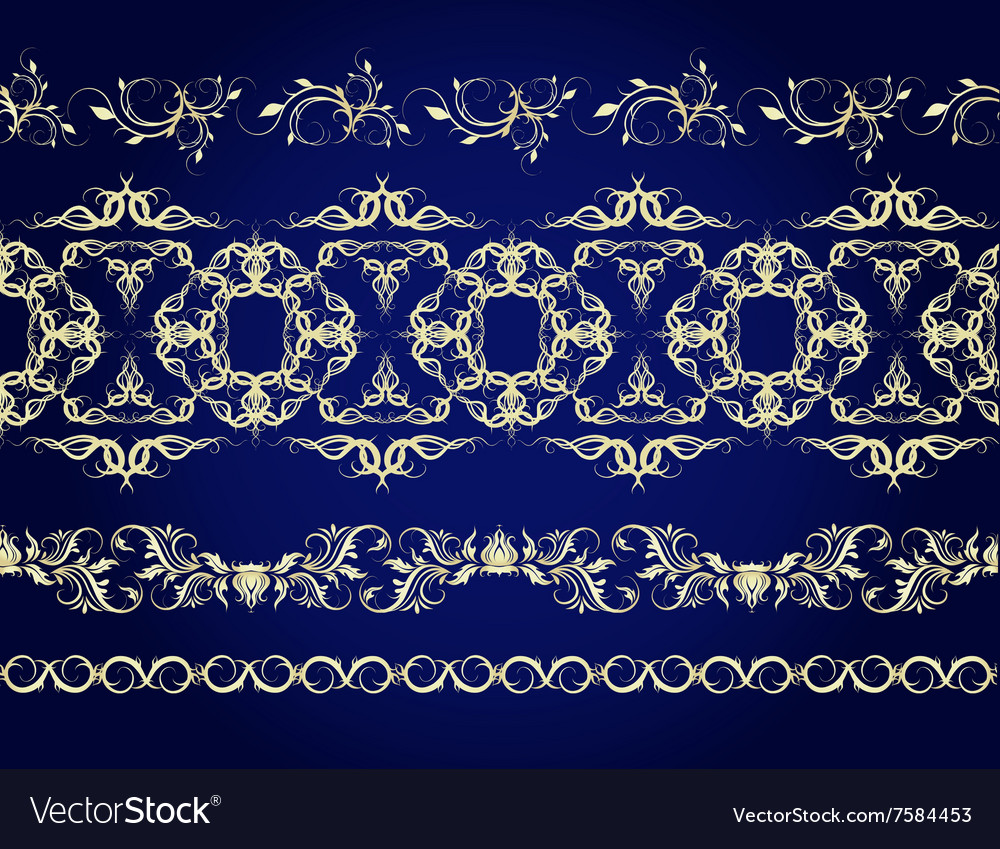 A set of linear seamless patterns