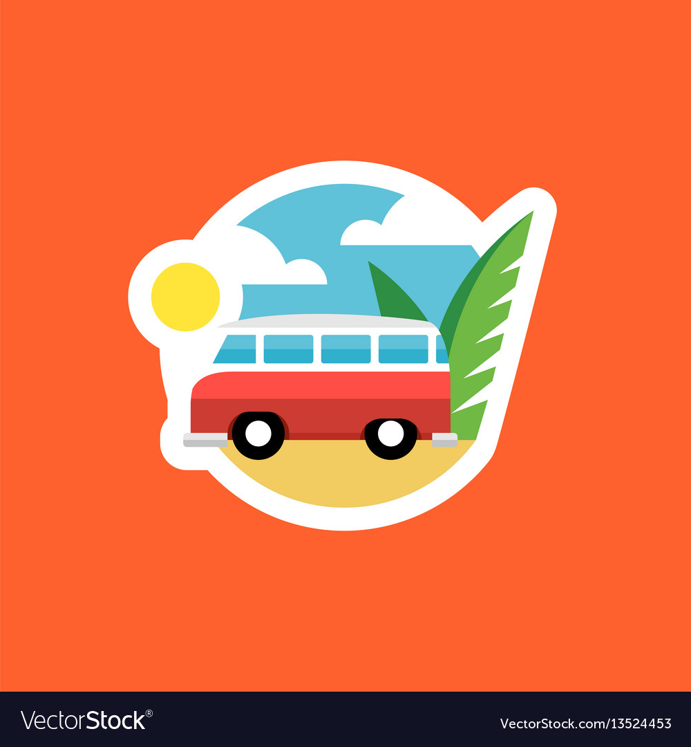 Beach van icon