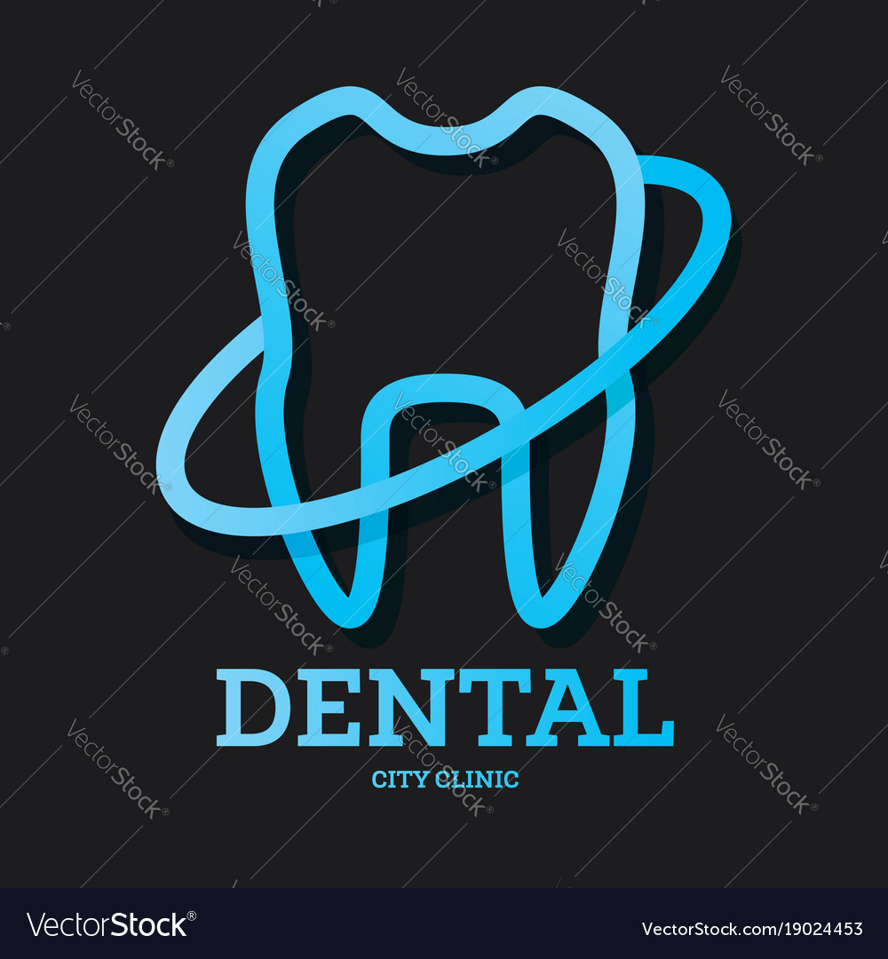 Dental clinic logo with blue tooth