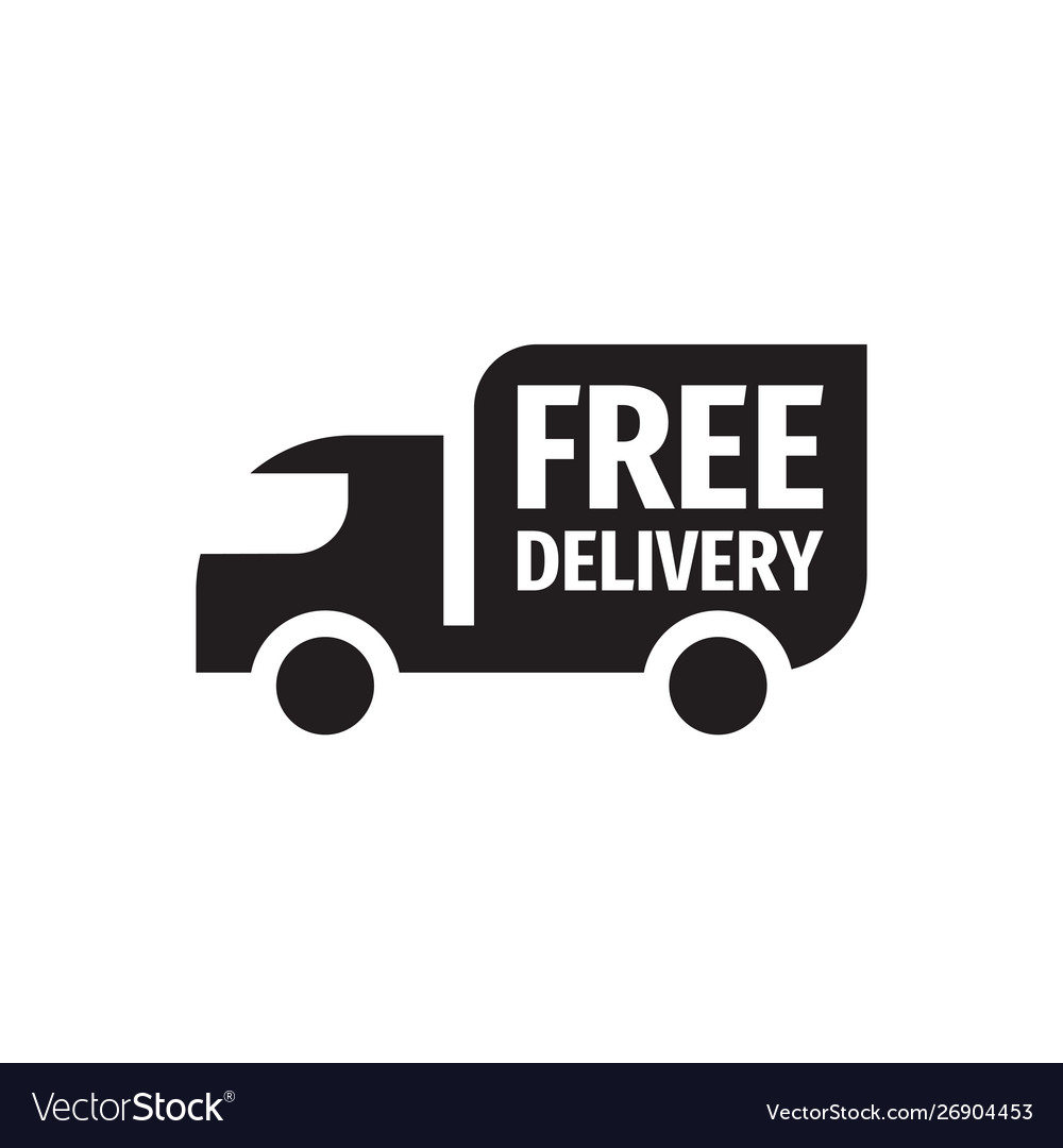 Free delivery shipping - black icon design