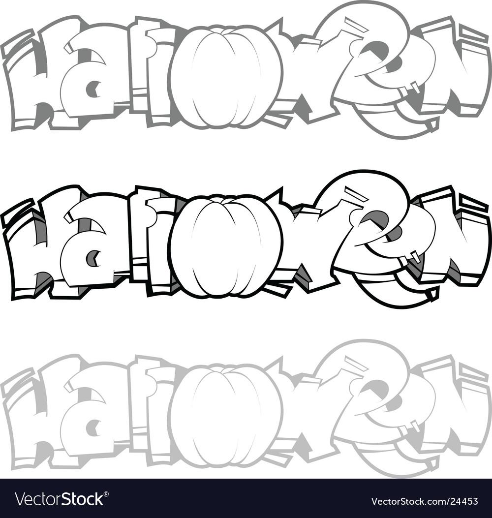 Halloween graffiti vector image