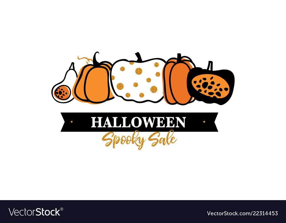 Halloween scary pumpkins pattern sale poster