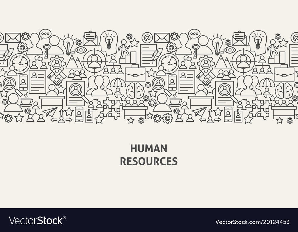 Human resources banner concept vector image
