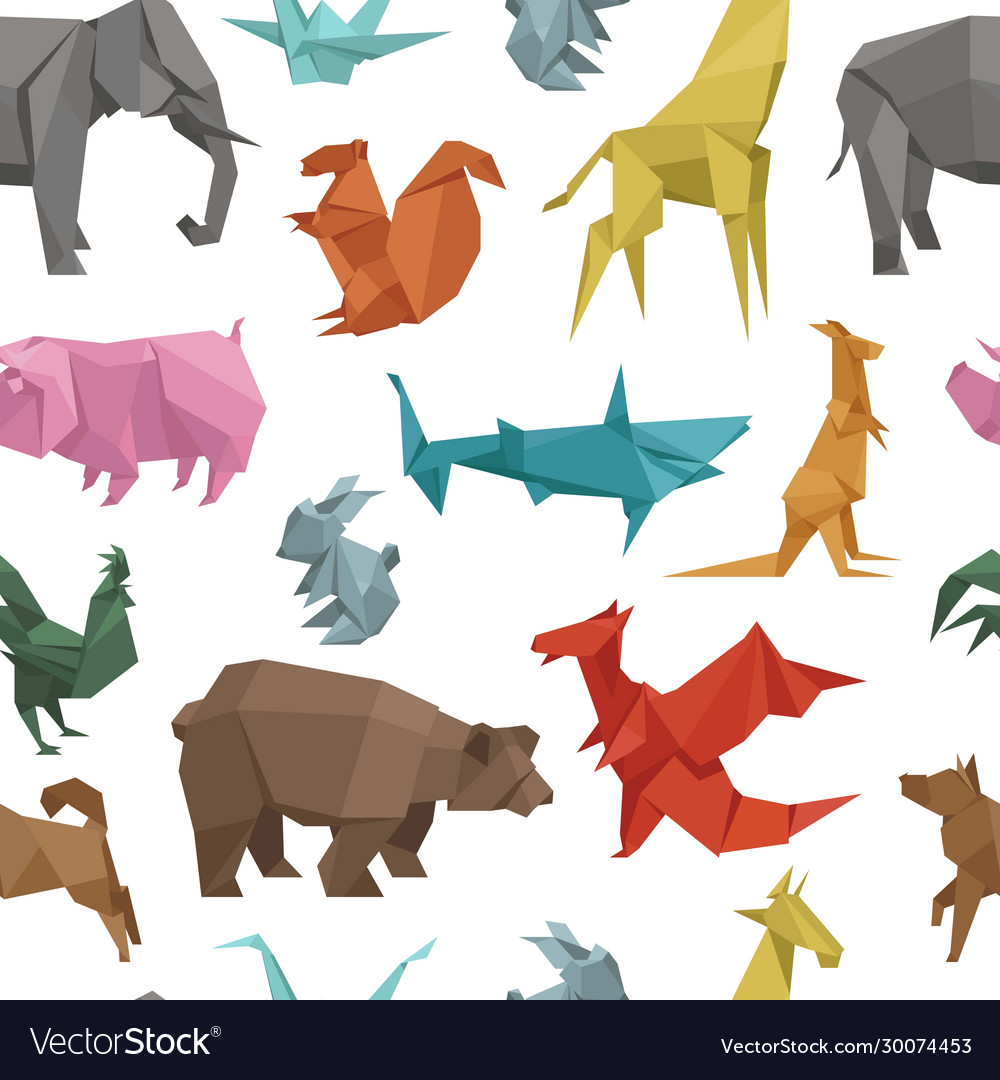 Origami paper animals geometric game japanese