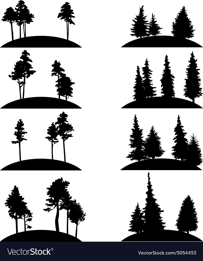 Set different landscapes with trees