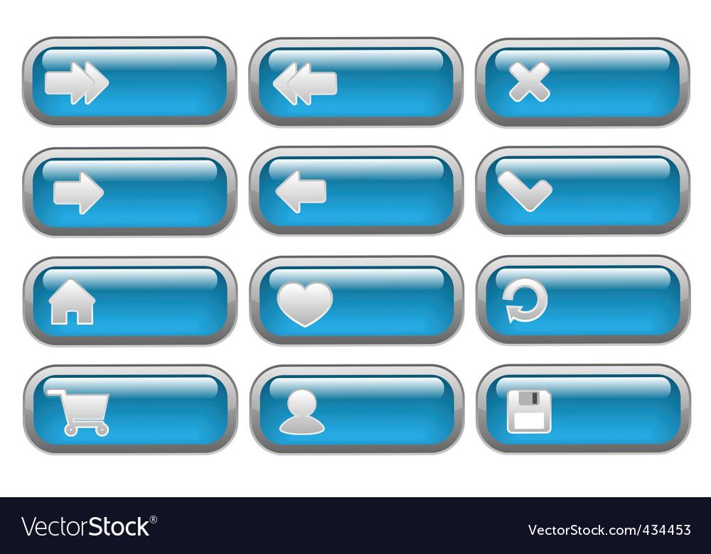 Shiny internet buttons set