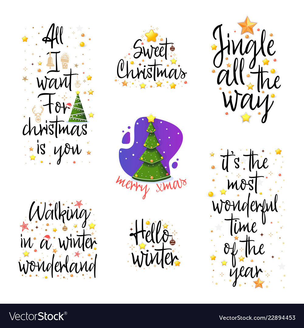 Christmas Posters.Slogans For The New Year Christmas Posters For An