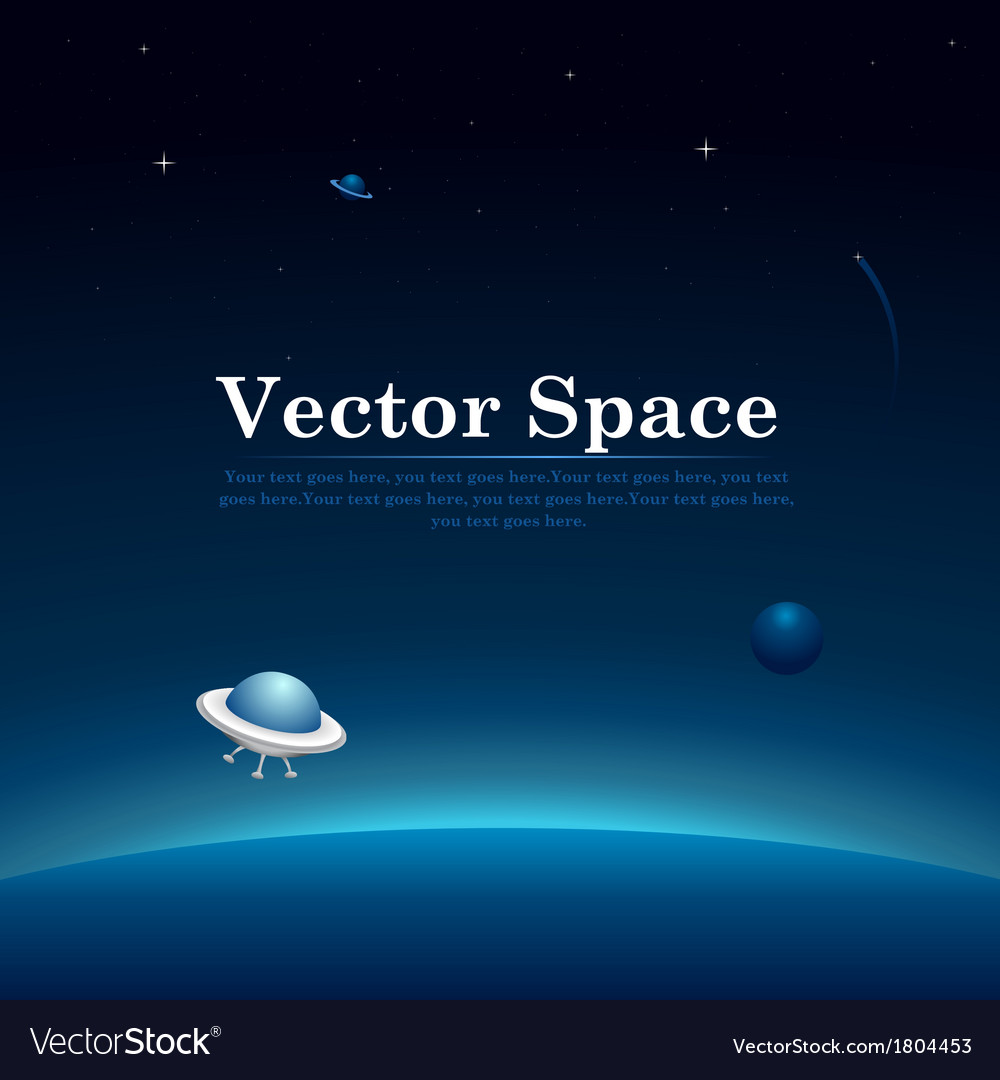 Space Planets Background Royalty Free Vector Image