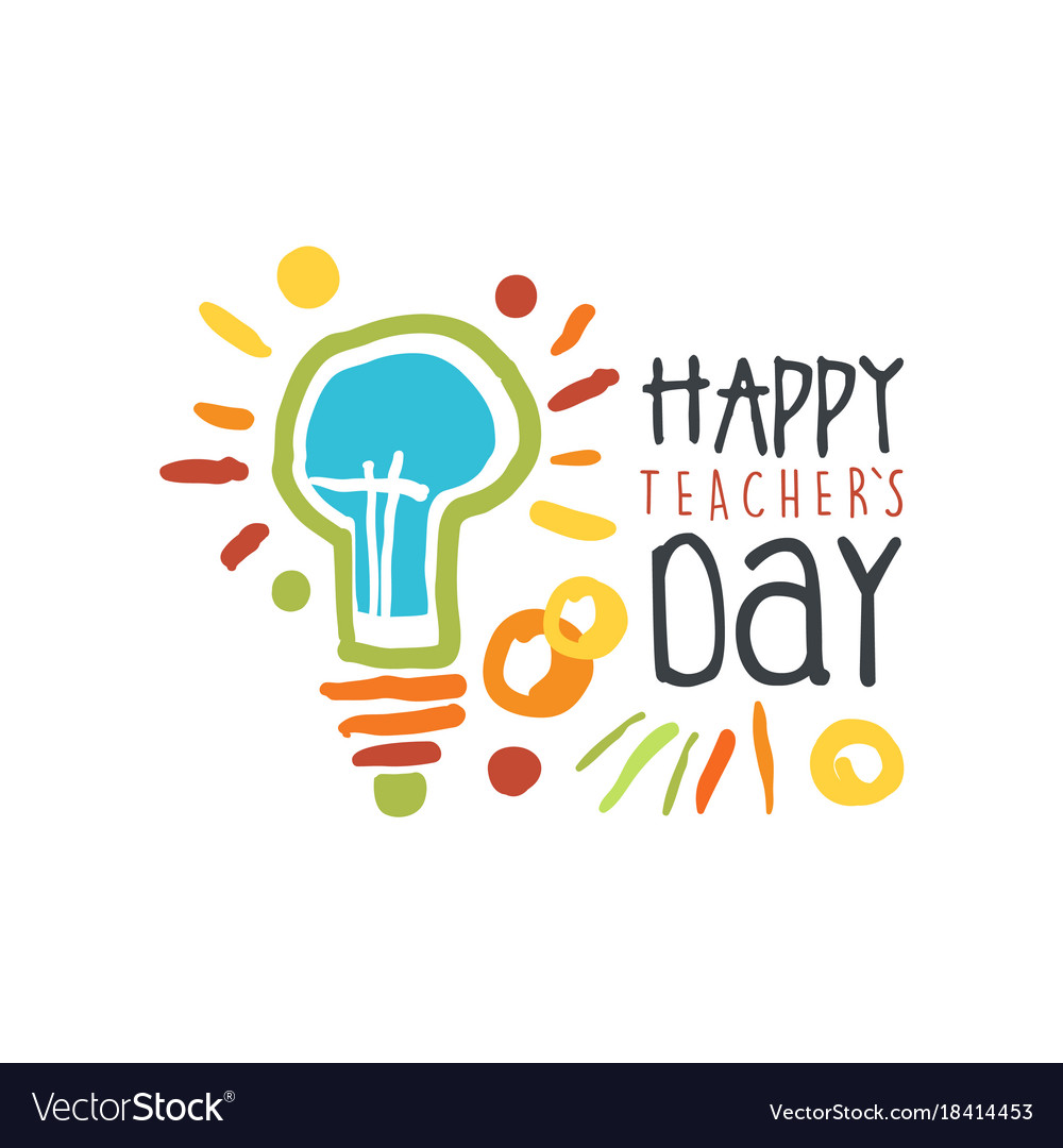 Teachers day greeting card with electric lamp