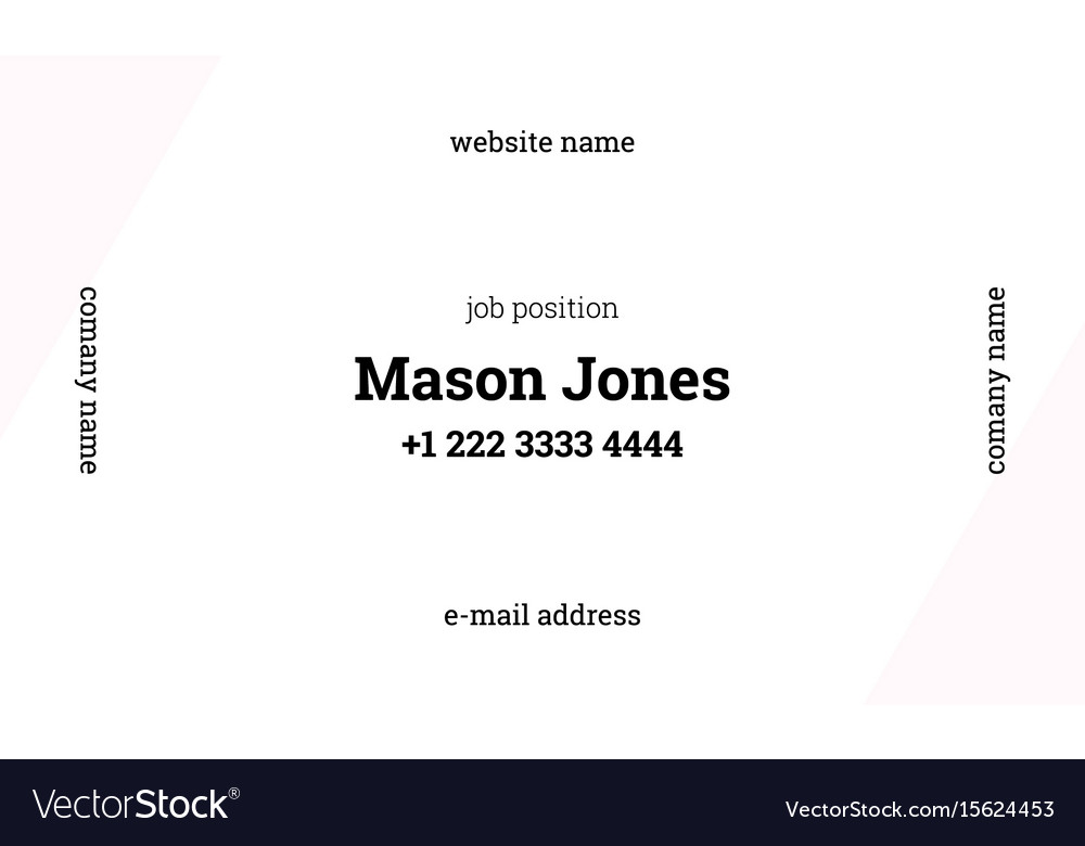 White and pink business card template strict style white and pink business card template strict style vector image wajeb Choice Image