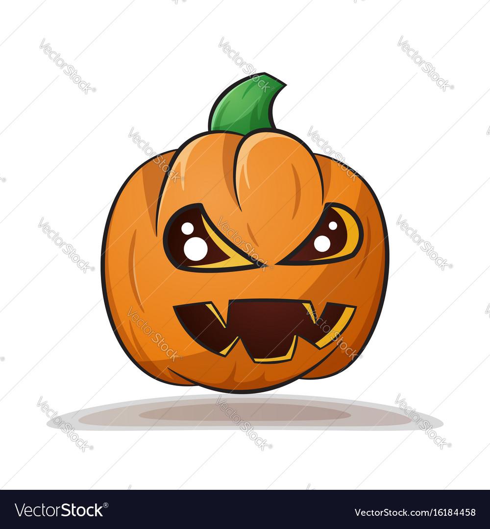 Cartoon pumpkin evil horror