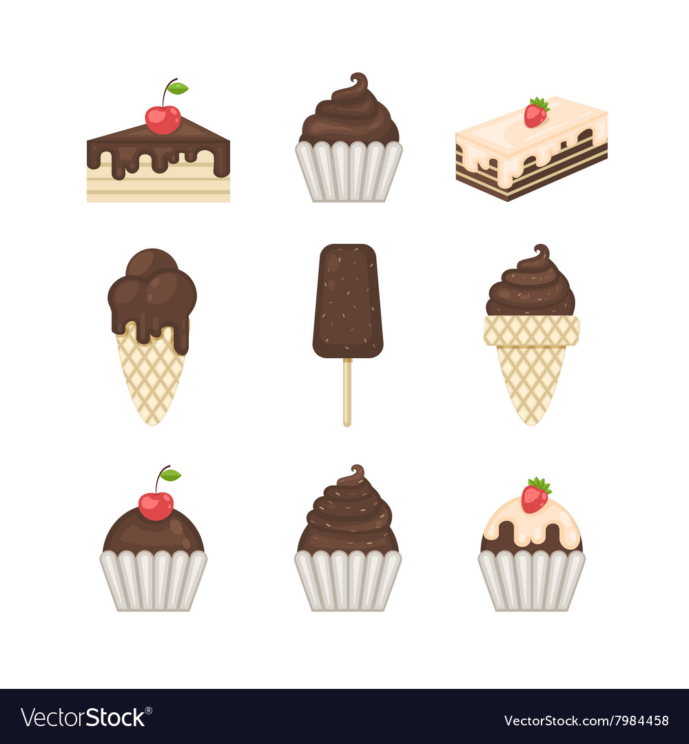 Chocolate sweets icons