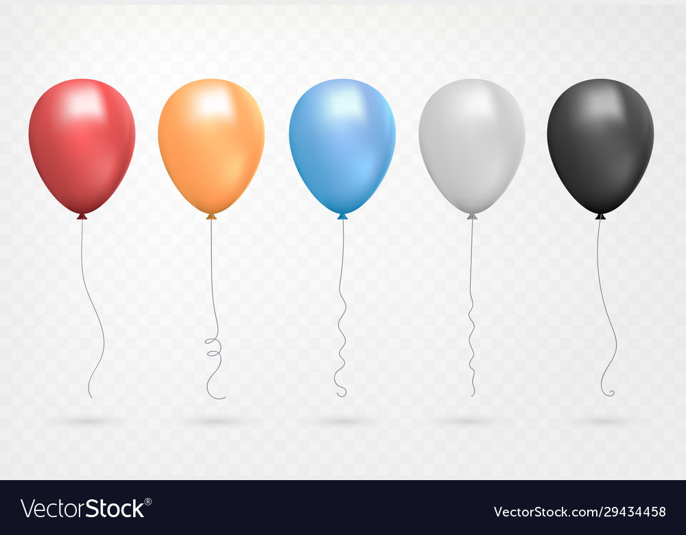 Helium balloon shine colored set flying realistic