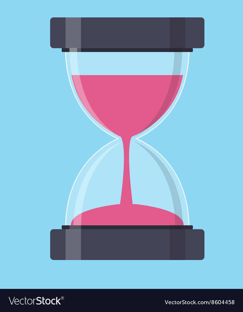 Hourglass Sandglass Icon in Flat Style