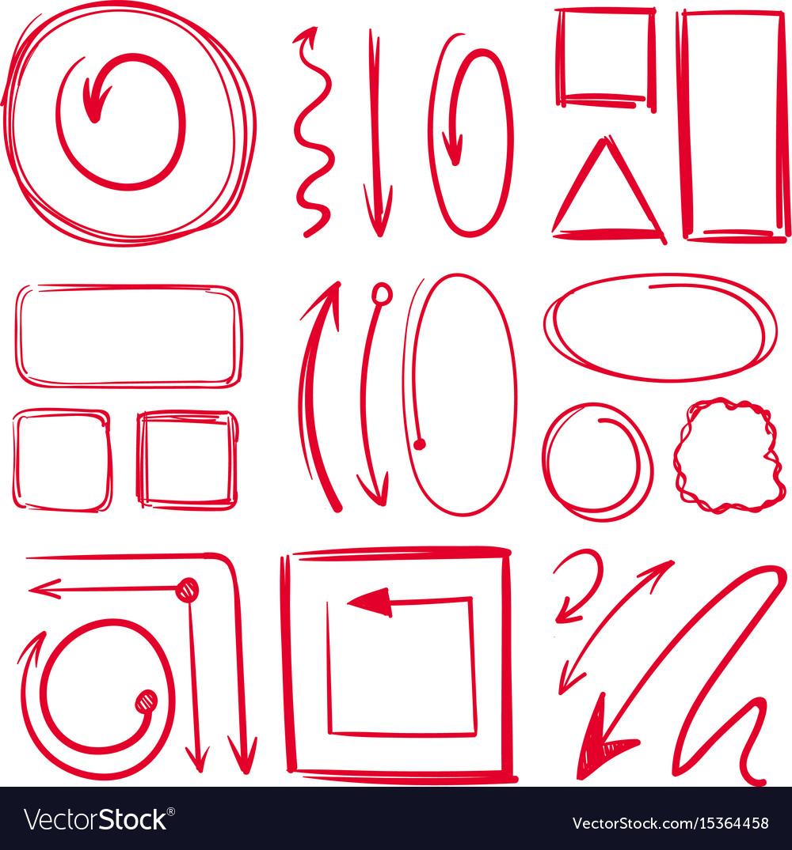 Marker underlines and different doodle frames