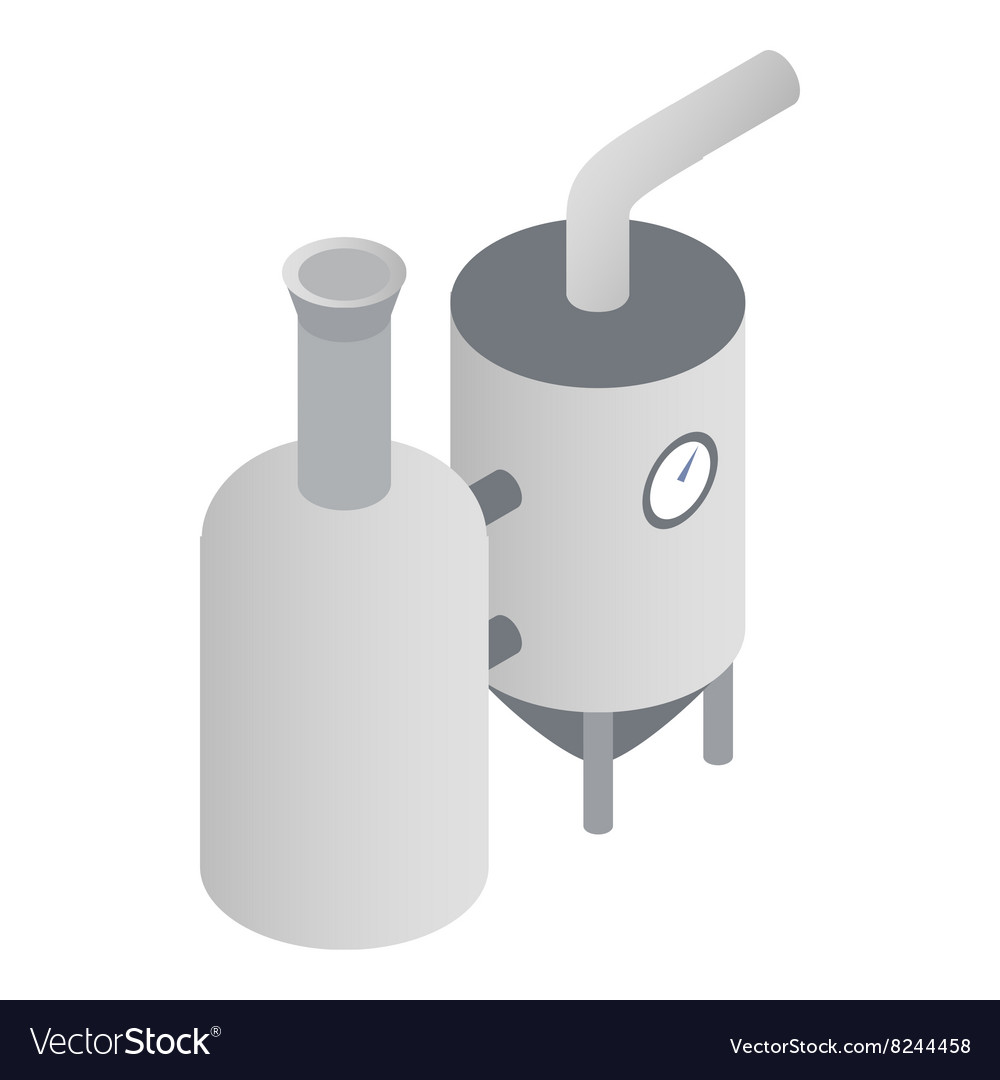 Modern brewery icon isometric 3d style