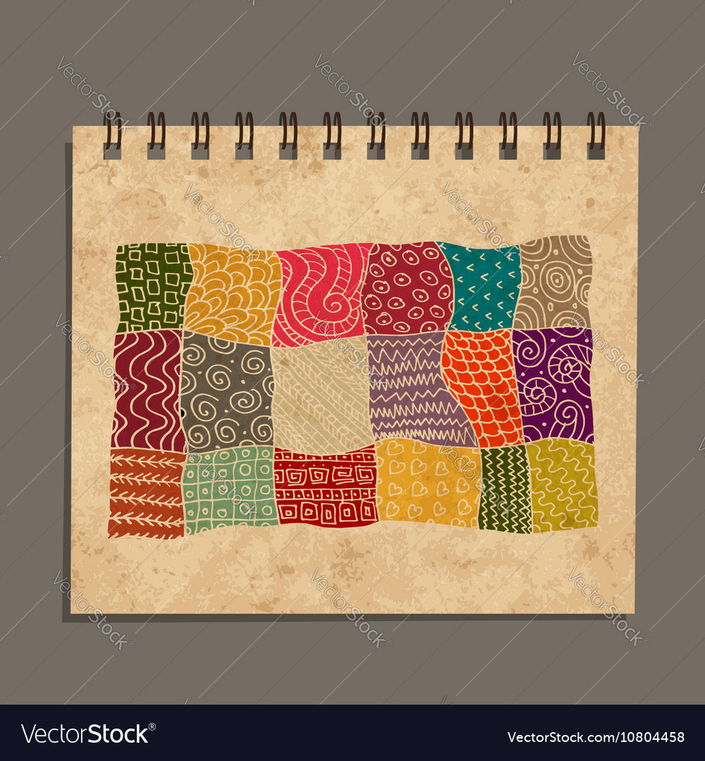 Notebook abstract oriental design Old grunge