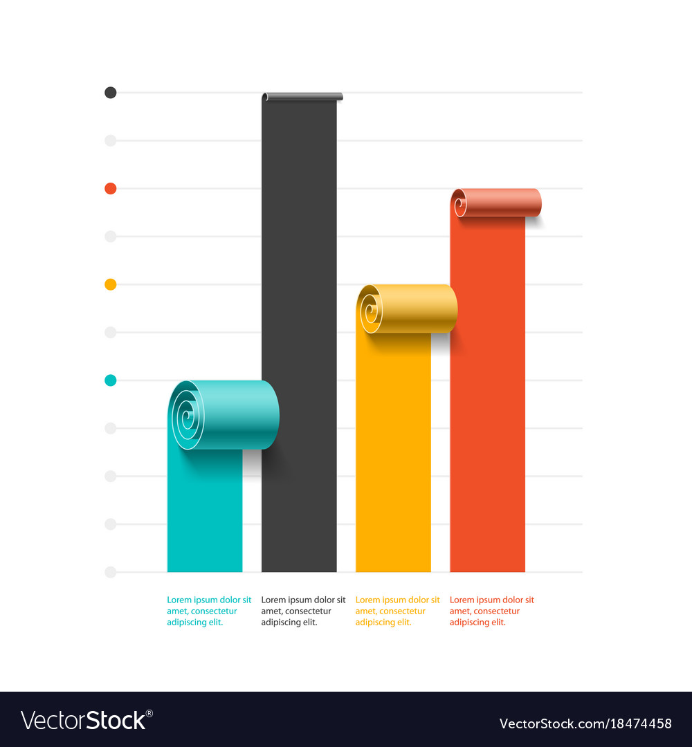 Bar Chart Template | Spiral Business Graph Bar Chart Template Vector Image On Vectorstock