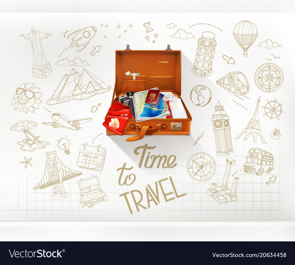 Time to travel infographics