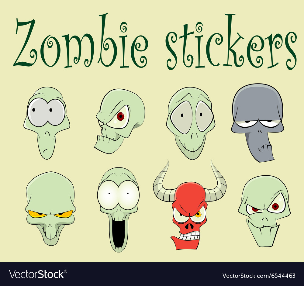 Characters of funny zombies vector image