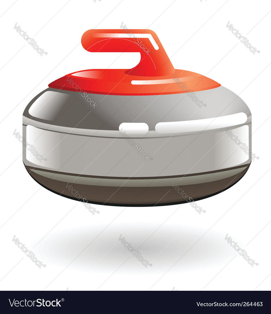 Curling stone illustration vector image