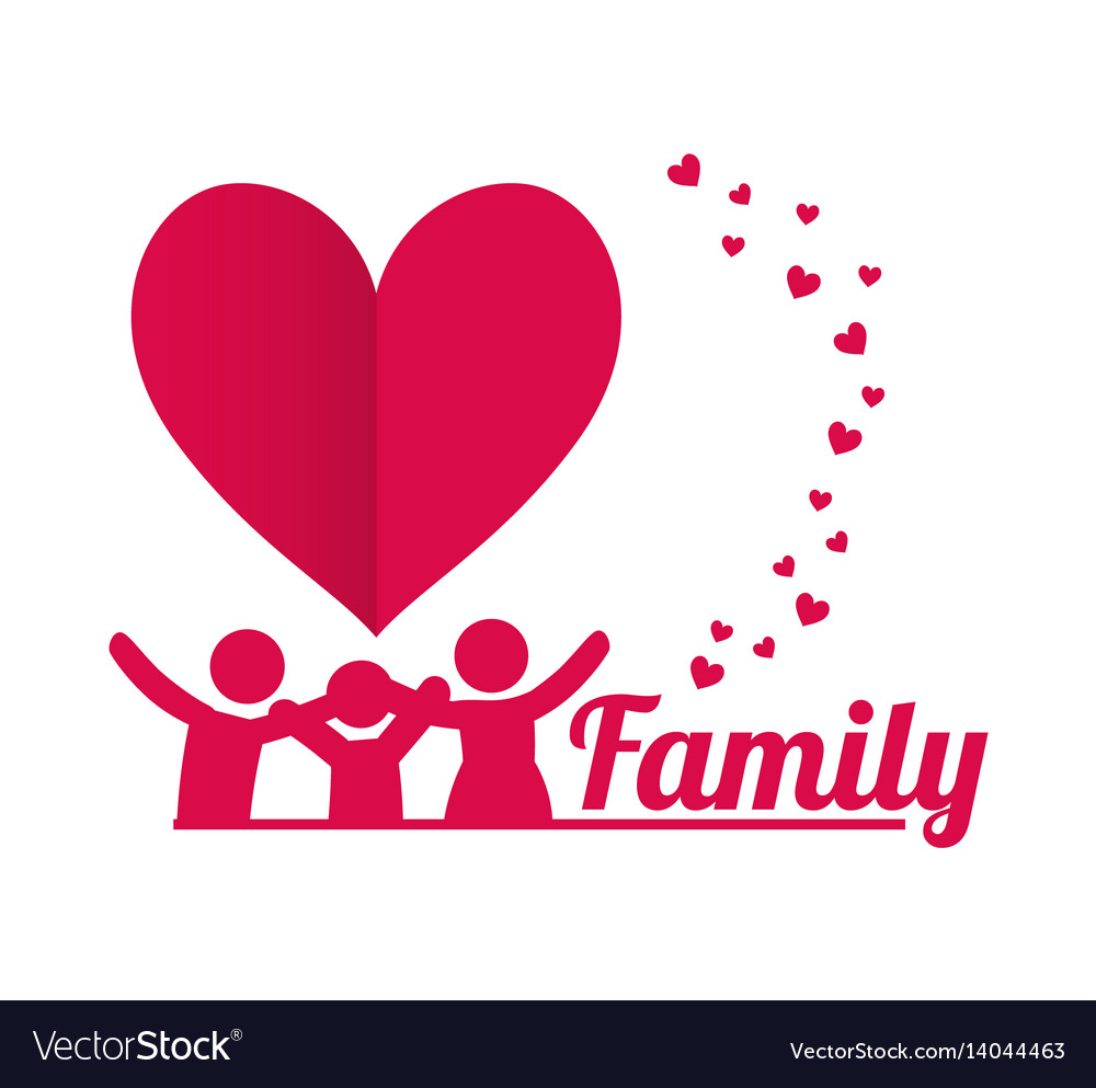 Lovely Family Poster Together Royalty Free Vector Image