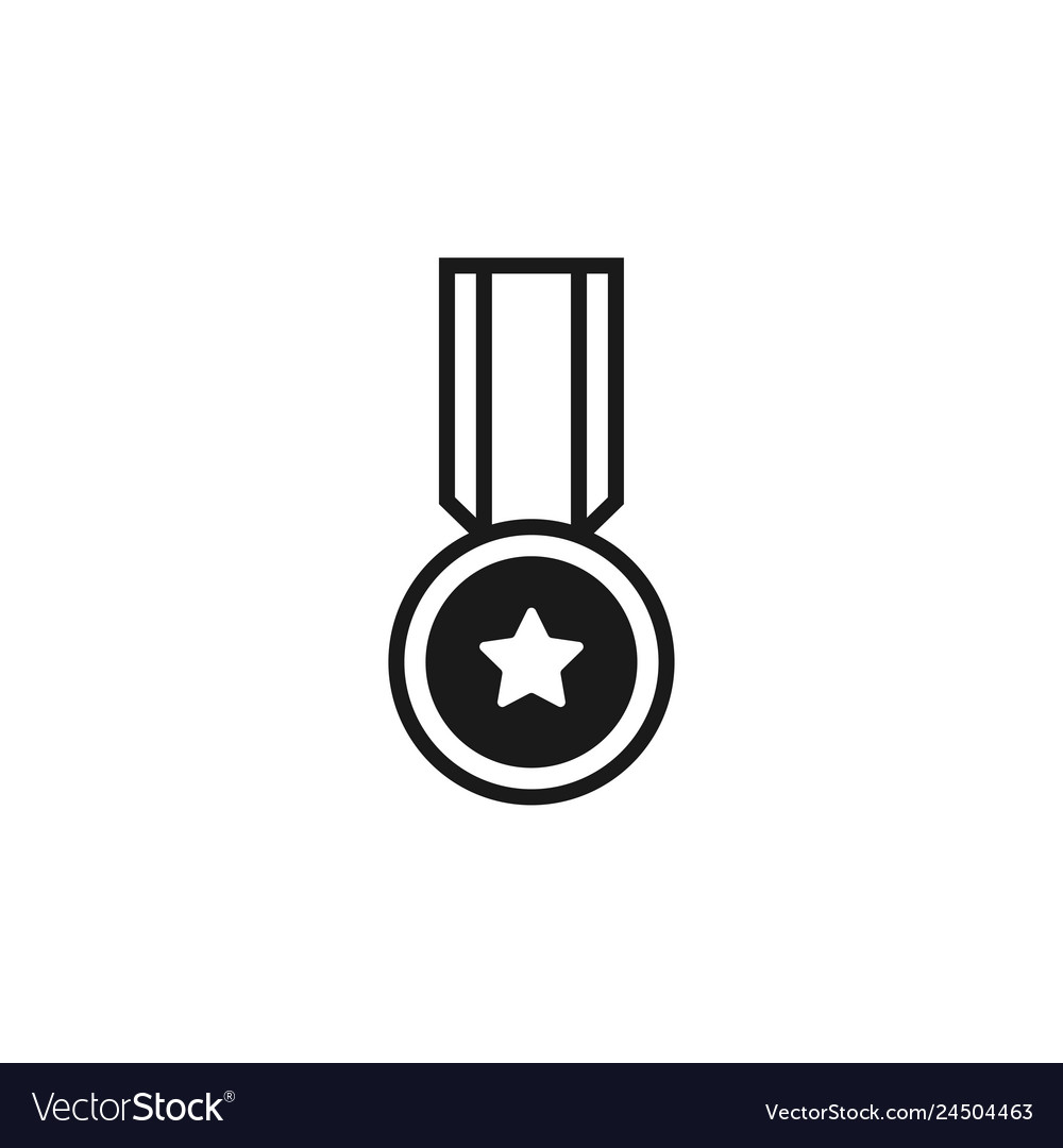 Medal icon graphic design template