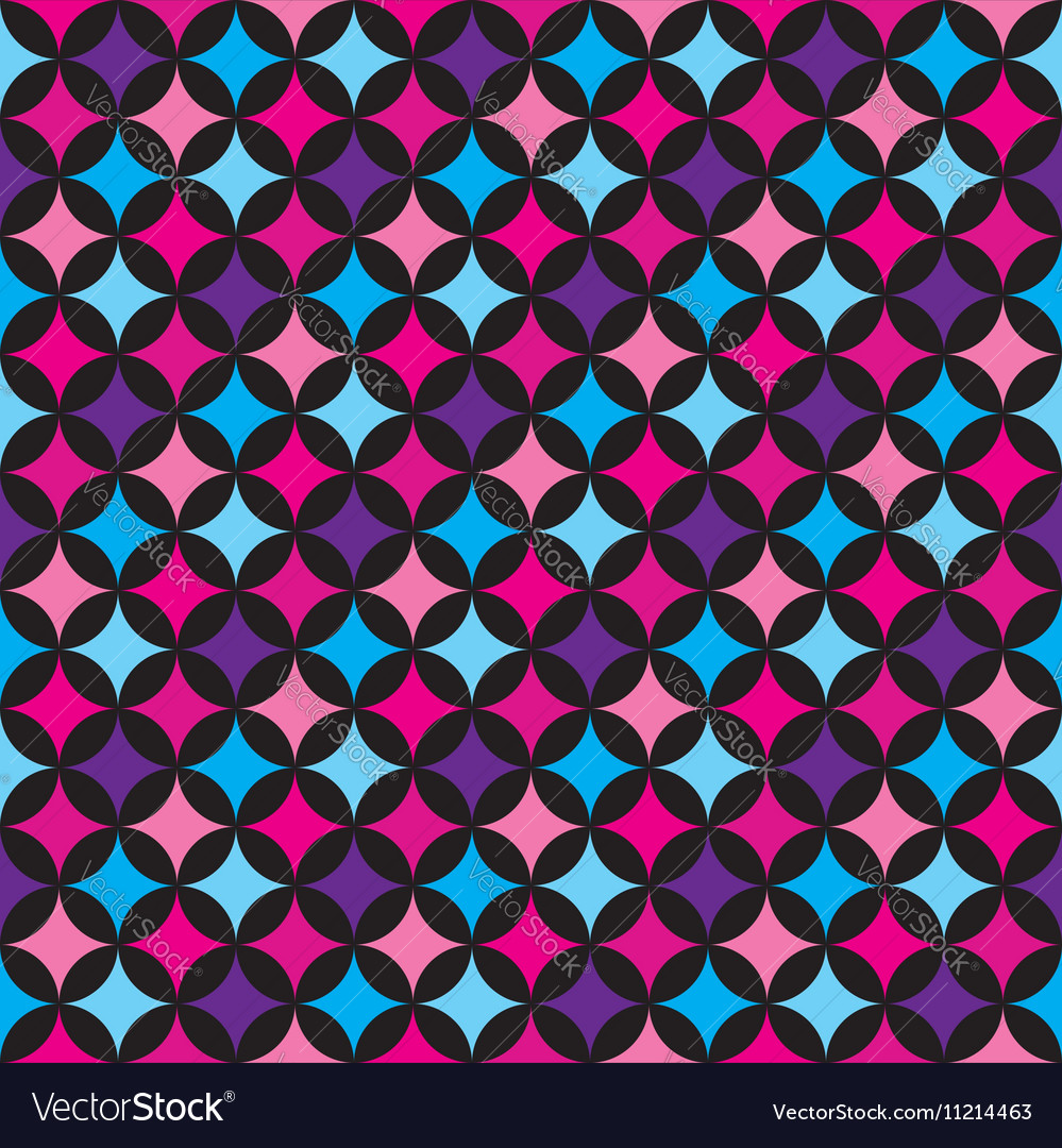 Seamless pattern with blue and pink elements