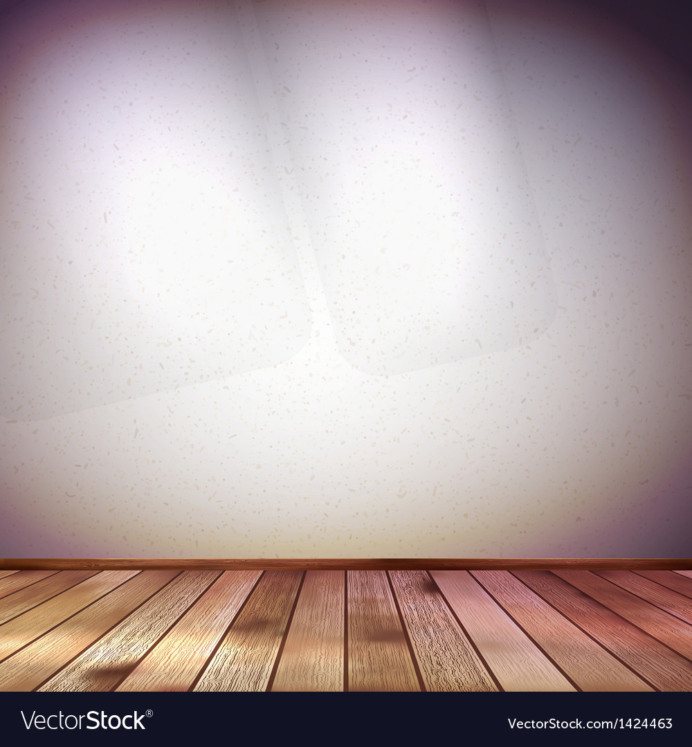 Wall with a spot illumination EPS 10 vector image