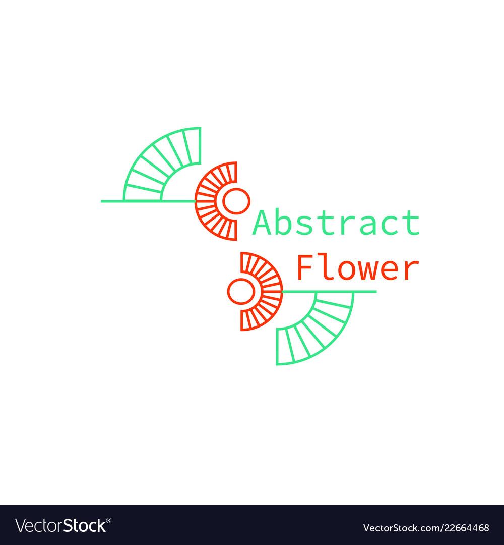 An abstract geometrical flower logo
