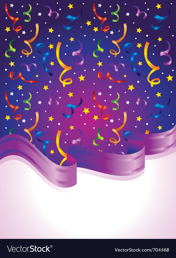 Confetti and ribbon vector image