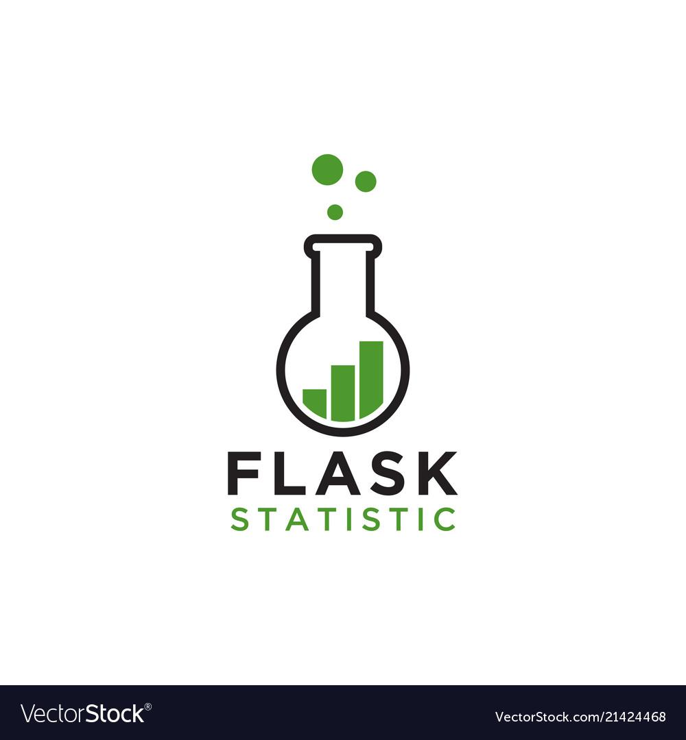 Flask statistic logo design template