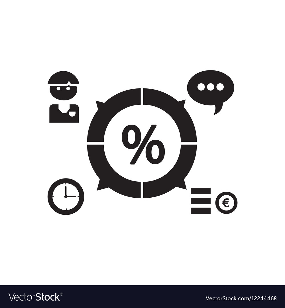 Flat icon in black and white economy infographics