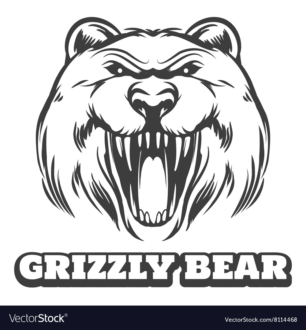 Grizzly bear head logo
