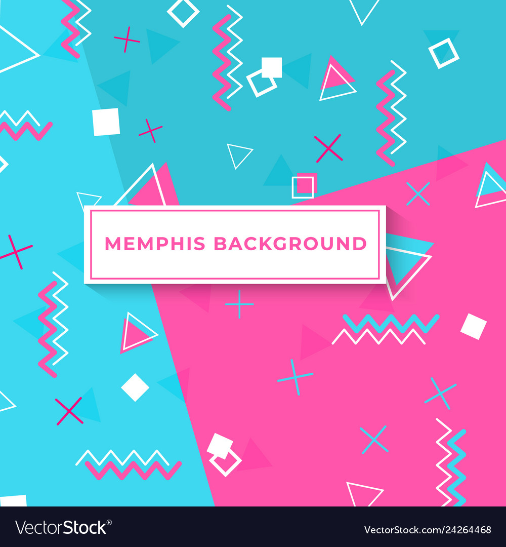 Memphis style cover with geometric shapes