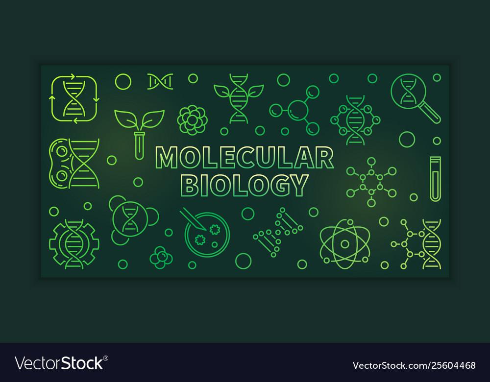 Molecular biology outline green banner
