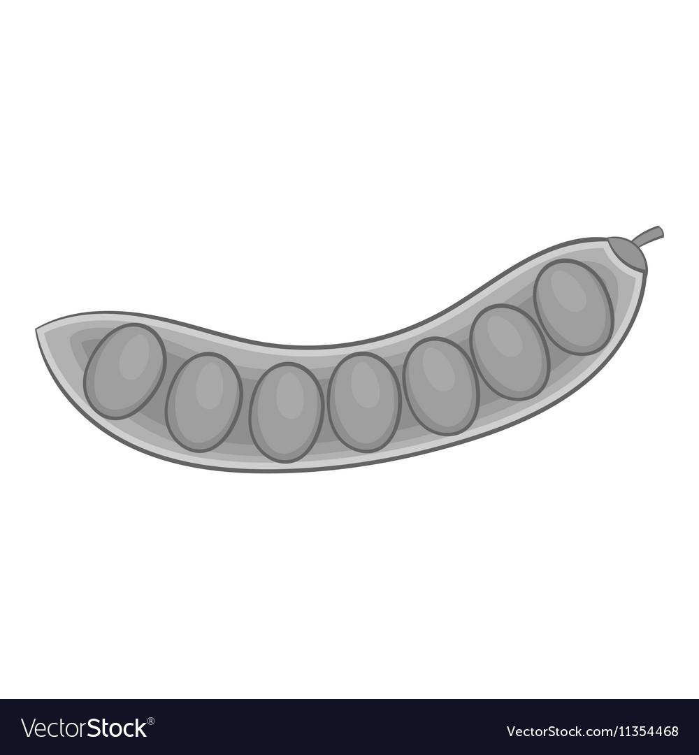 Pea pod icon gray monochrome style