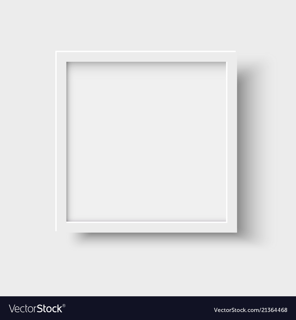 Realistic square empty picture frame