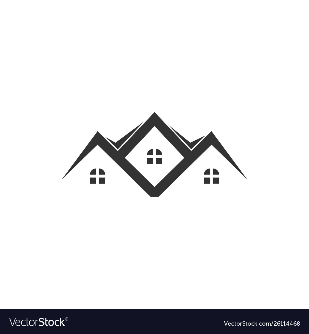 Residence house icon graphic design template