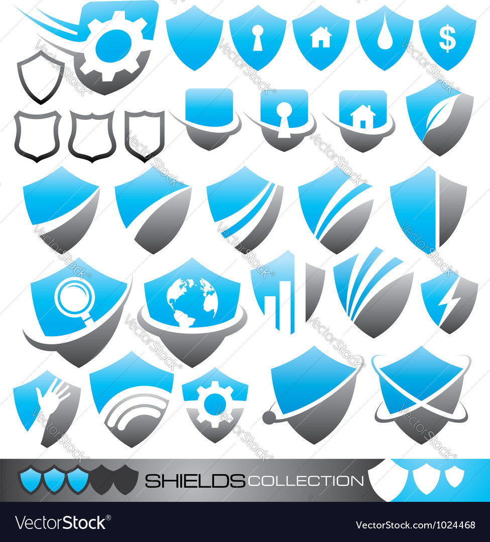 Security shield - symbols icons and logo concepts