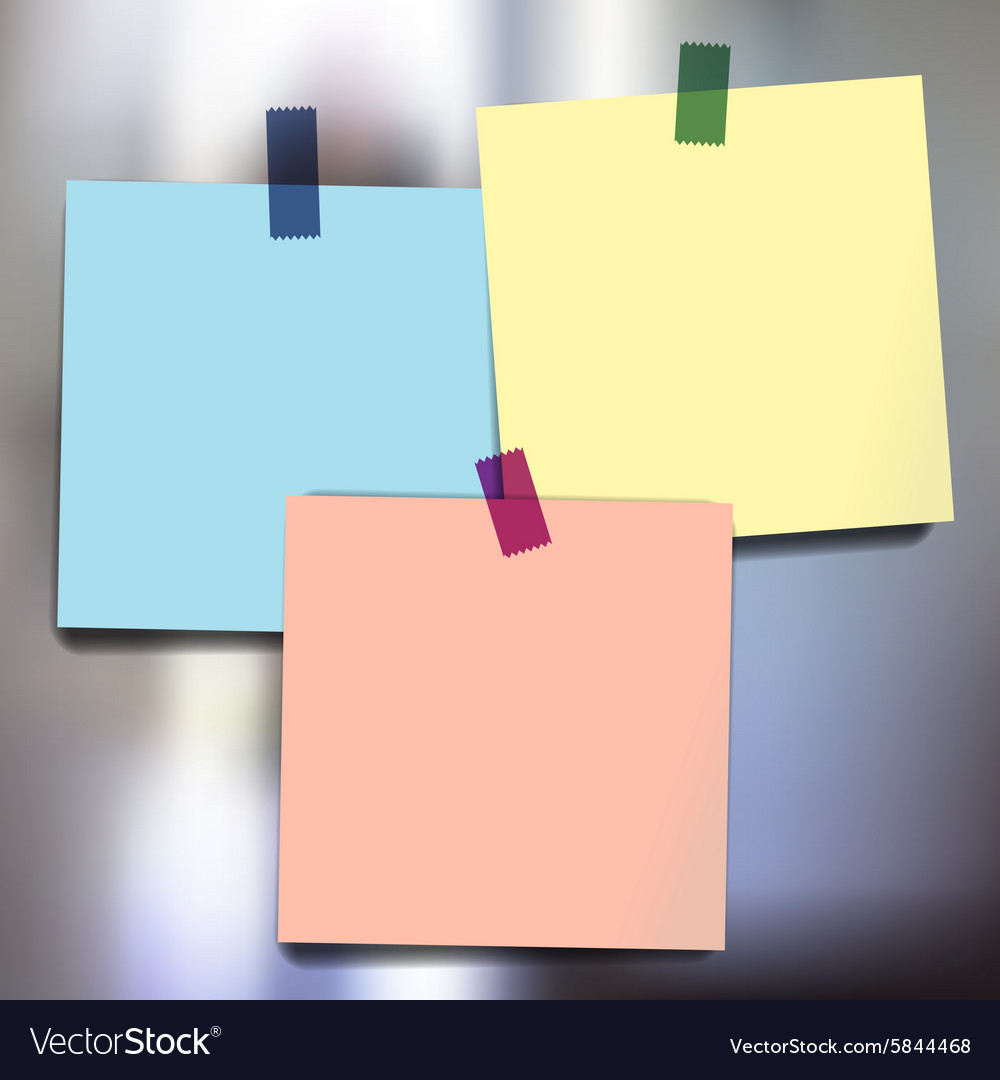Sticky notes wallpapers vector image